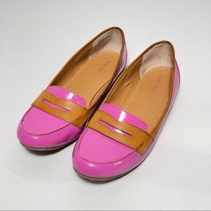 Nine West Pink MARLINSY Patent Leather Flats Sz 8M